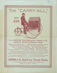 Advert for Fisher & Co's Carry-All Tricycle